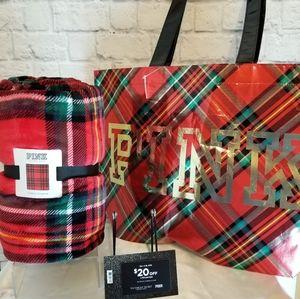 PINK Victoria's Secret Blanket + Reusable Tote Bag